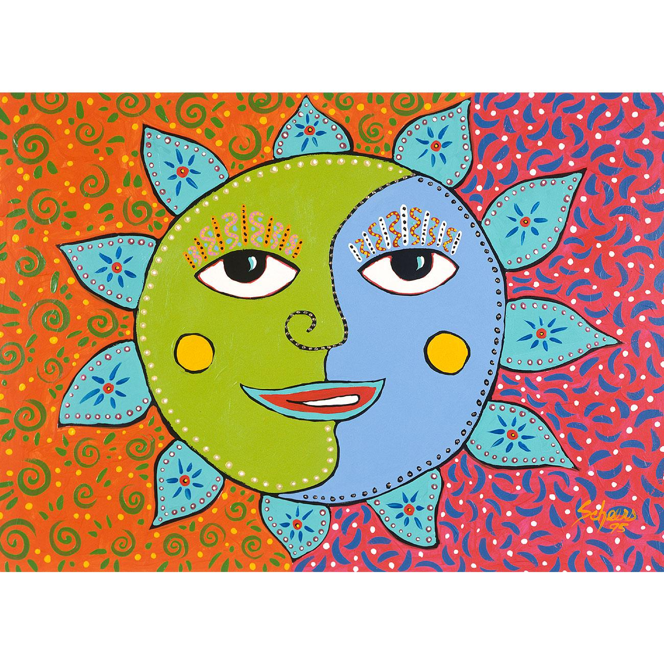 Sunday Morning Sun Greeting Card Artwork By Gwendolyn Scheers