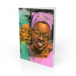 """Sisters"" Greeting Card, artwork by Carlos Spivey"