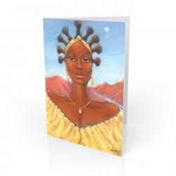 """Oshun"" Greeting Card, artwork by Carlos Spivey"