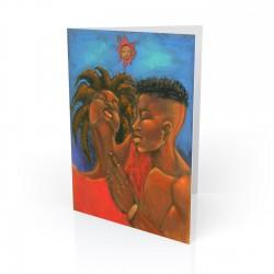 """Dred Love"" Greeting Card, artwork by Carlos Spivey"