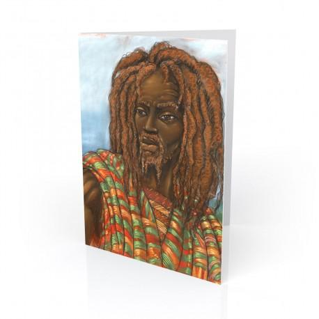 """One with Jah"" Greeting Card, artwork by Carlos Spivey"