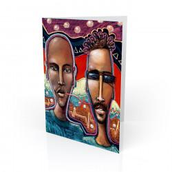 """Communication"" Greeting Card, artwork by Carlos Spivey"