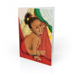 """Baby Love 2"" Greeting Card, artwork by Carlotta Swain-Ward"