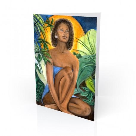 """Native Flower"" Greeting Card, artwork by Carlotta Swain-Ward"