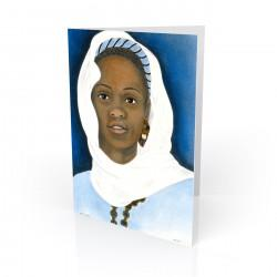 """Ivory Scarf"" Greeting Card, artwork by Carlotta Swain-Ward"