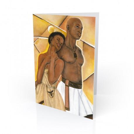 """Strong Shoulders"" Greeting Card, artwork by Carlotta Swain-Ward"