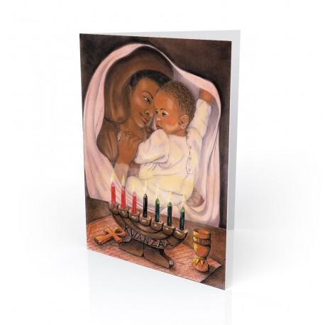"""""""First Kwanzaa"""" Greeting Card, artwork by Carlotta Swain-Ward"""