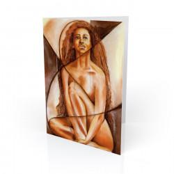 """He Created Woman"" Greeting Card, artwork by Carlotta Swain-Ward"