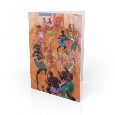 """""""The Dance Collective"""" Greeting Card, artwork by Carlos Spivey"""