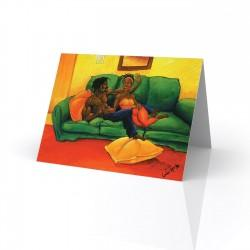 """Love Projection"" Greeting Card, artwork by Carlos Spivey"