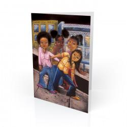 """Frisco Girls"" Greeting Card, artwork by Carlos Spivey"