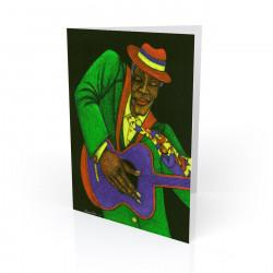 """Jazzman"" Greeting Card, artwork by Charles Bibbs"