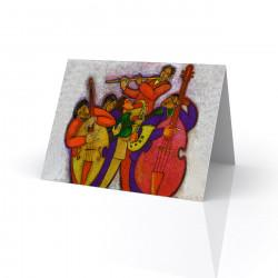 """Jazz on Jazz"" Greeting Card, artwork by Charles Bibbs"