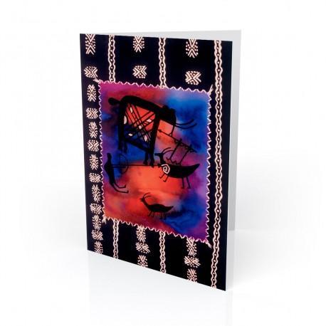 """A Nubian Safari"" Greeting Card, artwork by Charles Grant"