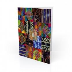 """Nubian Afghan II""  Kwanzaa Greeting Card, artwork by Charles Grant"