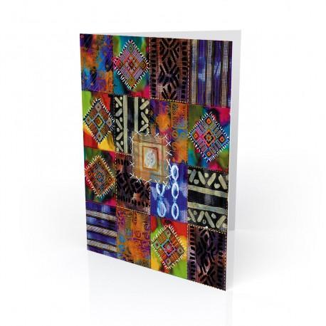 """""""Nubian Afghan II""""  Kwanzaa Greeting Card, artwork by Charles Grant"""