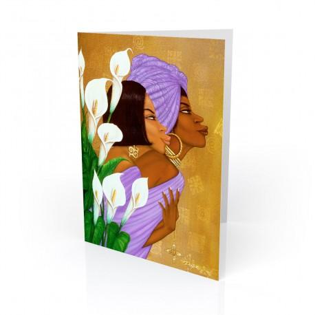 """""""Lilys"""" Greeting Card, artwork by Dexter Griffin"""
