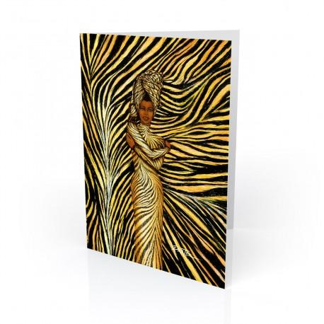 """""""Tiger Rap"""" Greeting Card, artwork by Dexter Griffin"""