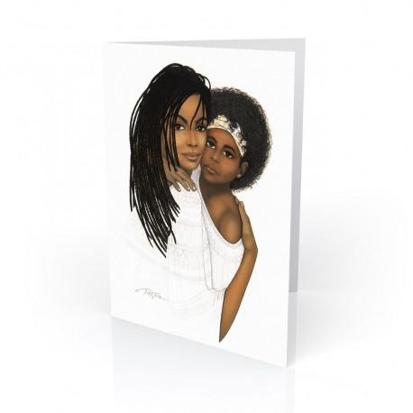 """""""Mother Love"""" Greeting Card, artwork by Dexter Griffin"""