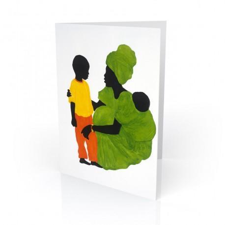 """Mama's Little Boy"" Greeting Card, artwork by Edwin Harris"