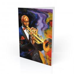 """Cool Jazz"" Greeting Card, artwork by George Bernard III"
