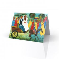 """Carriage Wedding"" Greeting Card, artwork by Fritzner Alfonse"