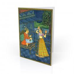 """Moonlight Dance"" Greeting Card - India"