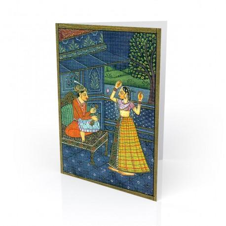 """Moonlight Dance"" Greeting Card - India"