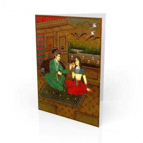 """""""Love at Dusk"""" Greeting Card - India"""