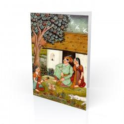 """In The Garden"" Greeting Card - India"