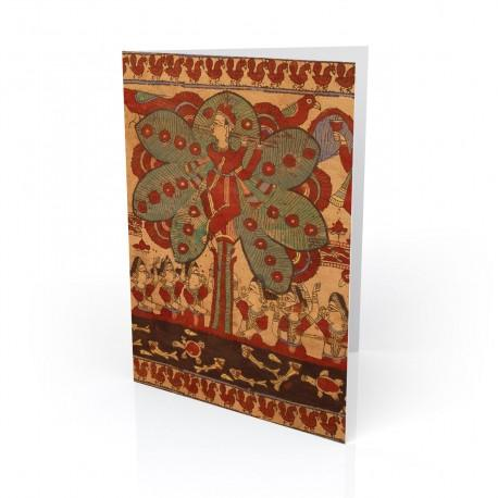 """The Lord Krishna"" Greeting Card, with Indian Textiles artwork"
