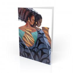 """Sisters"" Greeting Card, artwork by Keith Mallett"