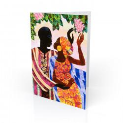 """In The Garden"" Greeting Card, artwork by Keith Mallett"