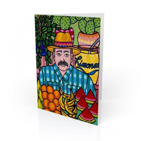 """The Market"" Greeting Card, artwork by Hector Guerra"