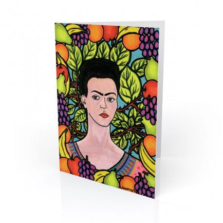 """Frida & Her World"" Greeting Card, artwork by Hector Guerra"