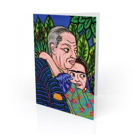 """Diego & Frida"" Greeting Card, artwork by Hector Guerra"