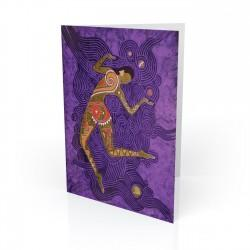 """Sun Dancer - Danzante Del Sol"" Greeting Card, artwork by Vico"