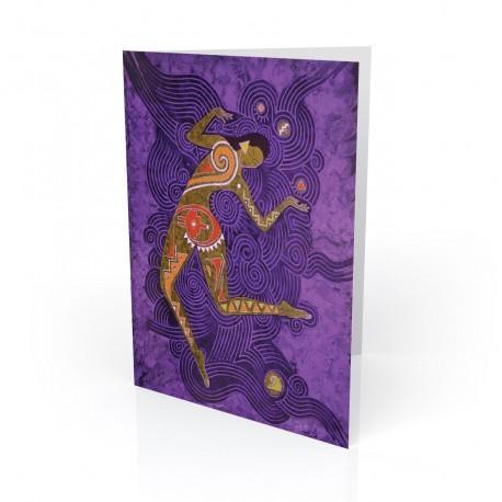 """""""Sun Dancer - Danzante Del Sol"""" Greeting Card, artwork by Vico"""