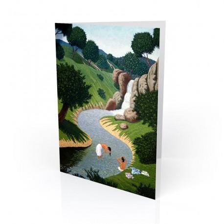 """""""The Bathers"""" Greeting Card, artwork by Vico"""