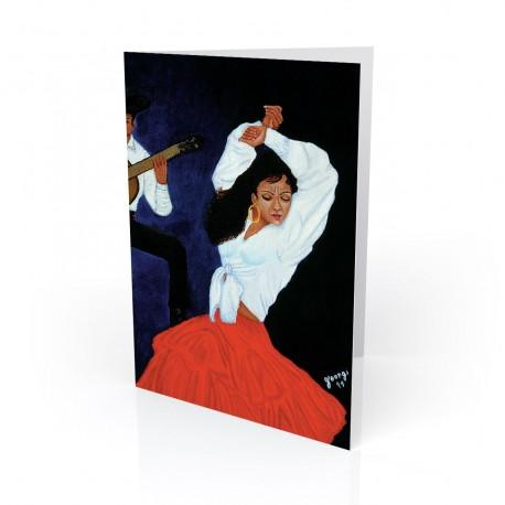 """Flamenca Dance"" Greeting Card, artwork by Georgi"