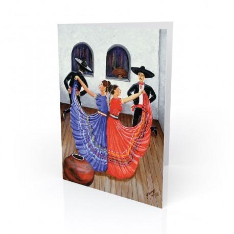 """Dia de Fiesta"" Greeting Card, artwork by Georgi"