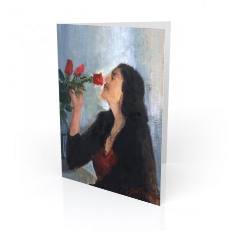 """Ensueño - Day Dreamer"" Greeting Card, artwork by Israel Martinez"