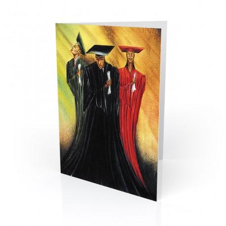 """Knowledge is Power"" Greeting Card, artwork by Preston"