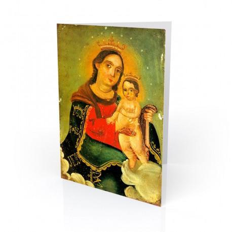 """""""Nuestra Senora, Refugio"""" Greeting Card, artwork by Retablo"""