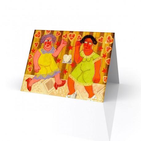 """""""Bailando"""" Greeting Card, artwork by Rodolfo Morales"""