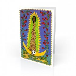 """Virgen de Guadalupe Tonantzin"" Greeting Card, artwork by Ralfka Gonzalez"