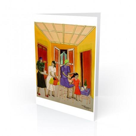 """Untitled (Haitian Home)"" Greeting Card, artwork by Pierre-Joseph Valcin"
