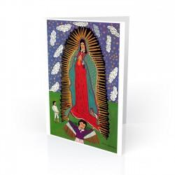 """Virgen de Guadalupe"" Greeting Card, artwork by Lucas Lorenzo-Guerro Mexico"