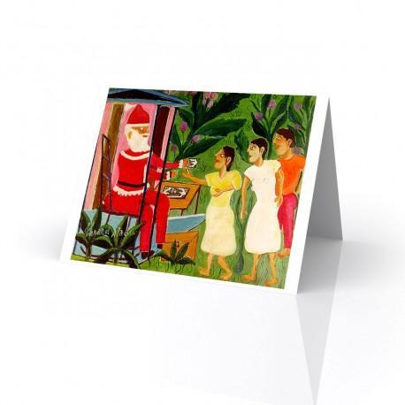 """Santa Claus"" Greeting Card, artwork by Theard Aladin"