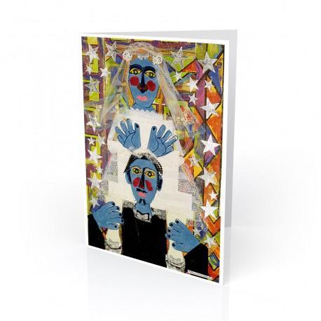 """Novios"" Greeting Card, artwork by Rodolfo Morales"